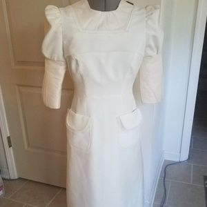 Vintage cream 60s wedding dress